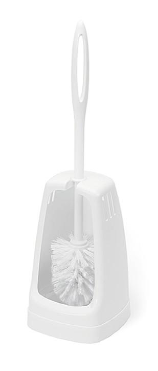 WC-Garnitur, Halterform, Kunststoff, weiß, 44 cm