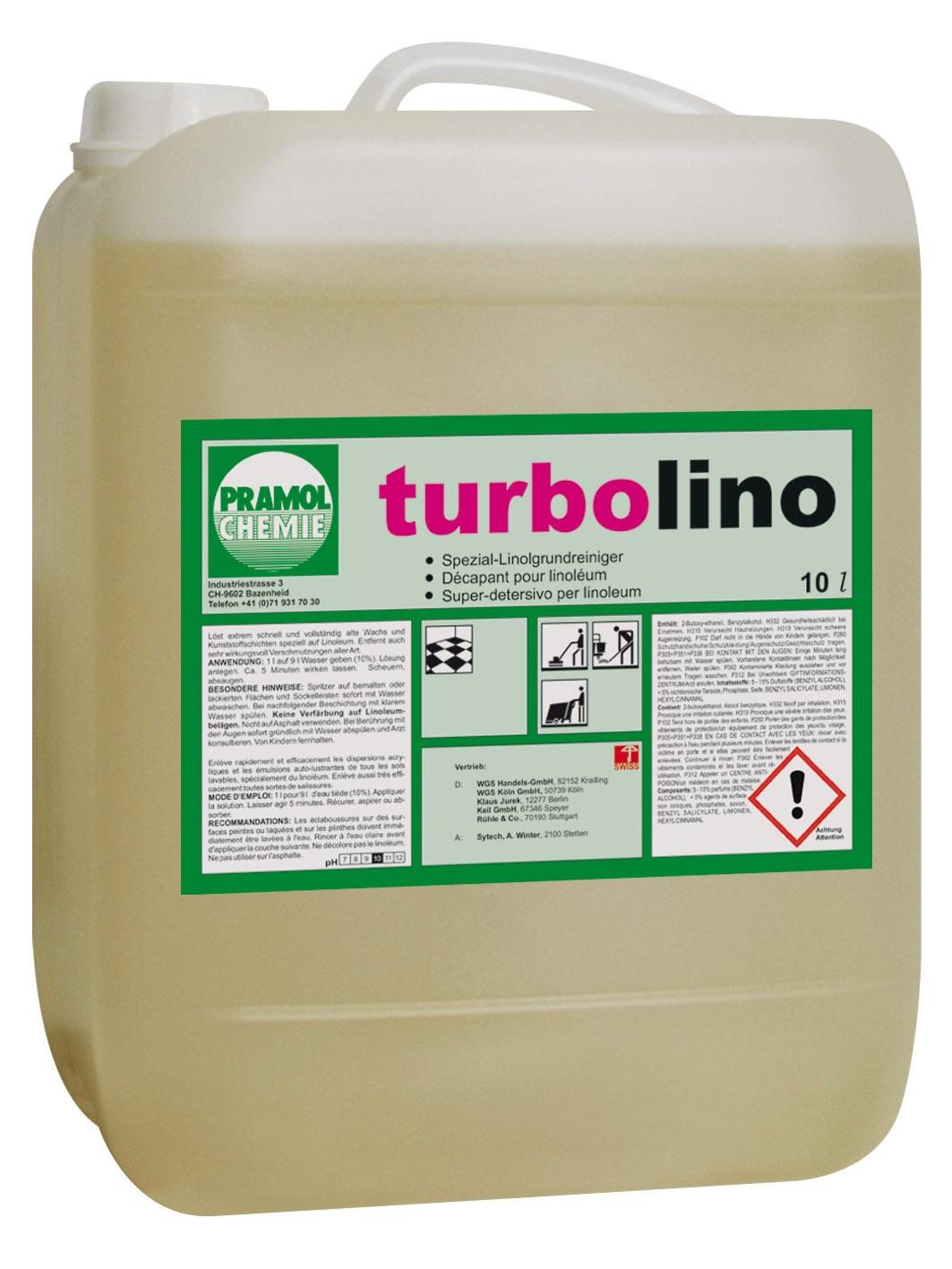 Pramol turbolino Grundreiniger, für Linoleumböden, 10 Liter