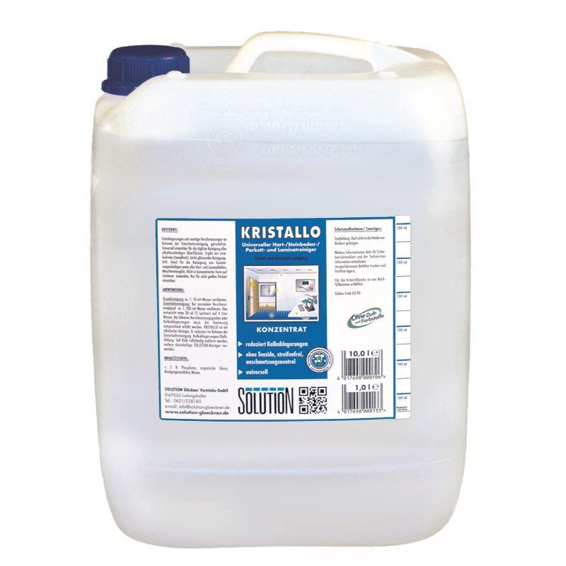 Kristallo, tensidfreies Reinigungskonzentrat, 1 Kanister, 10 Liter