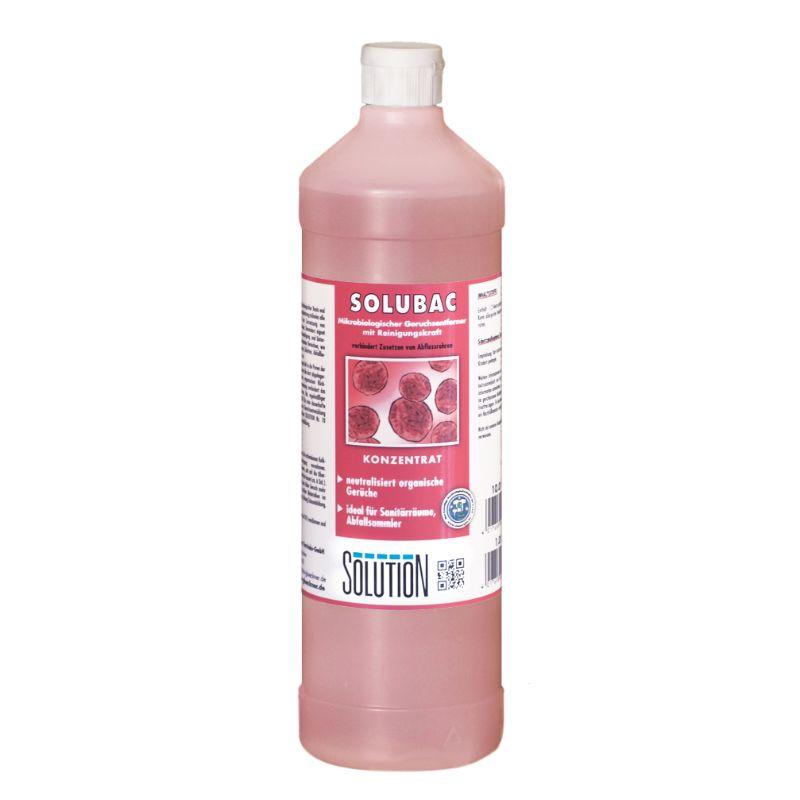 Solubac, Konzentrat, zum Wischen, Geruchskiller auf Basis von Mikroorganismen, rot, 1 Liter