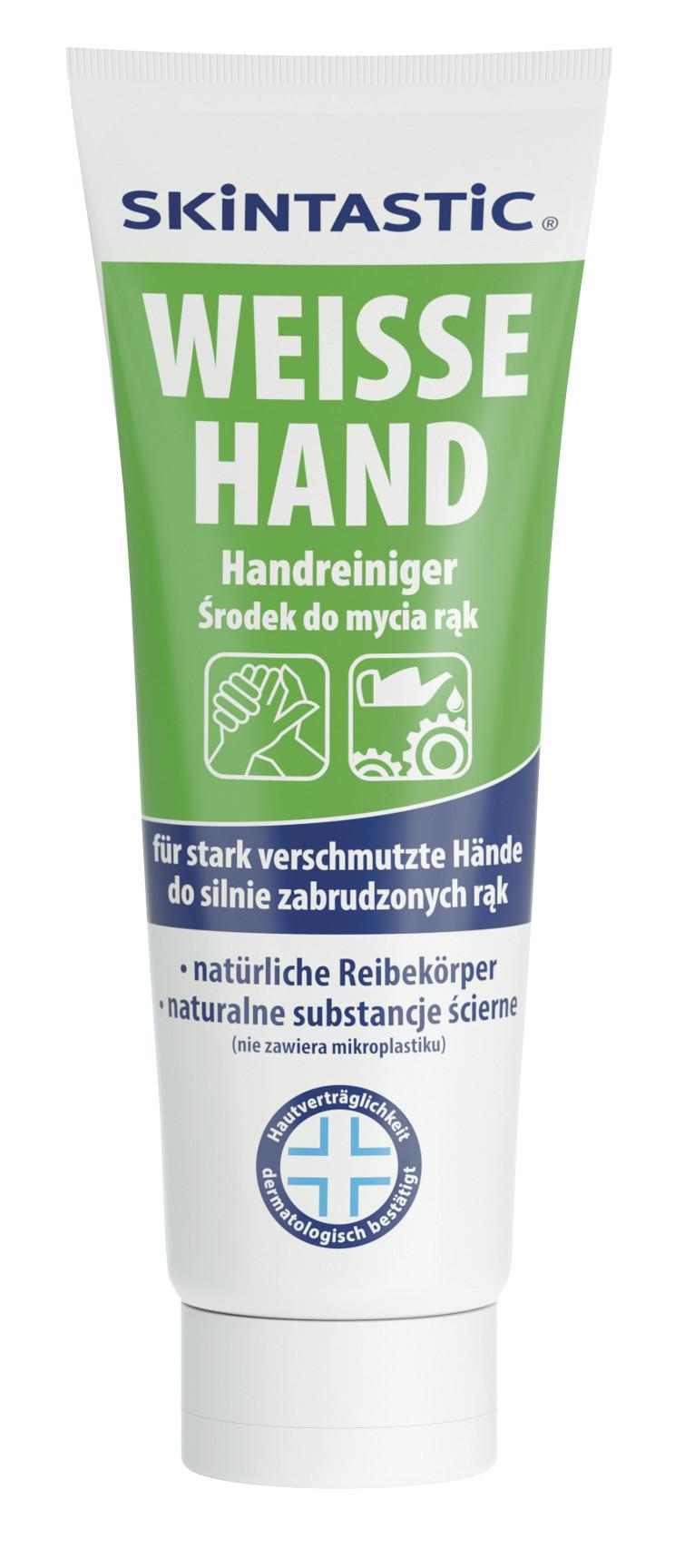 Skintastic Weiße Hand Hautreinigungscreme, mit Reibekörpern, 1 Tube, 250 ml