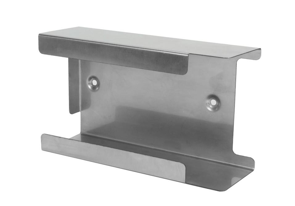 Handschuhhalter für 1 Box, Edelstahl, zur Wandmontage, nicht rostend, Silber, 220 x 125 x 73 mm