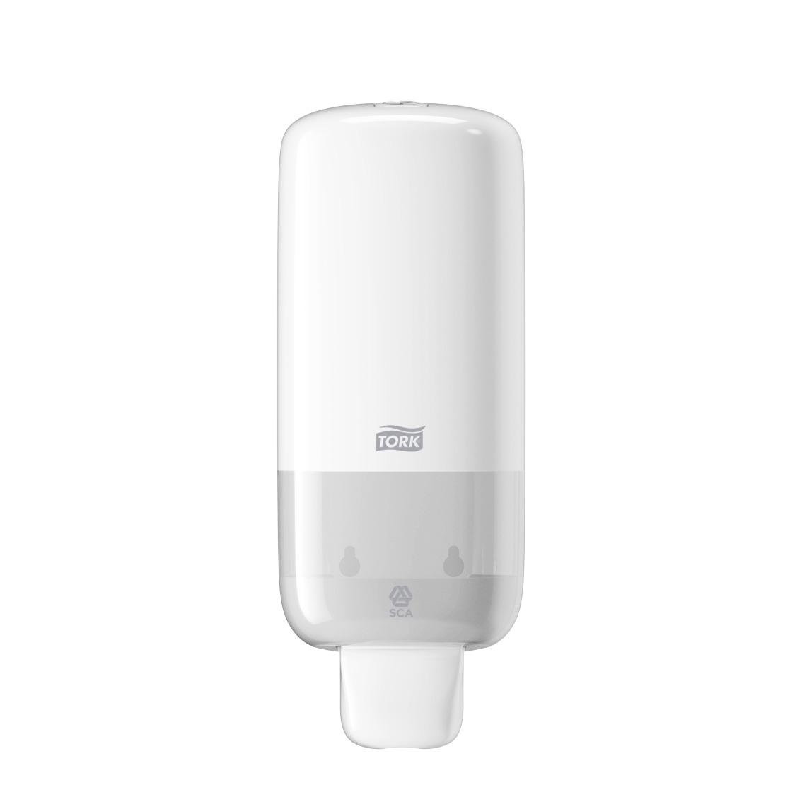 Tork Seifenspender Elevation, S4 - Schaumseifen System, Kunststoff, weiß, 11 x 28,5 x 10,5 cm