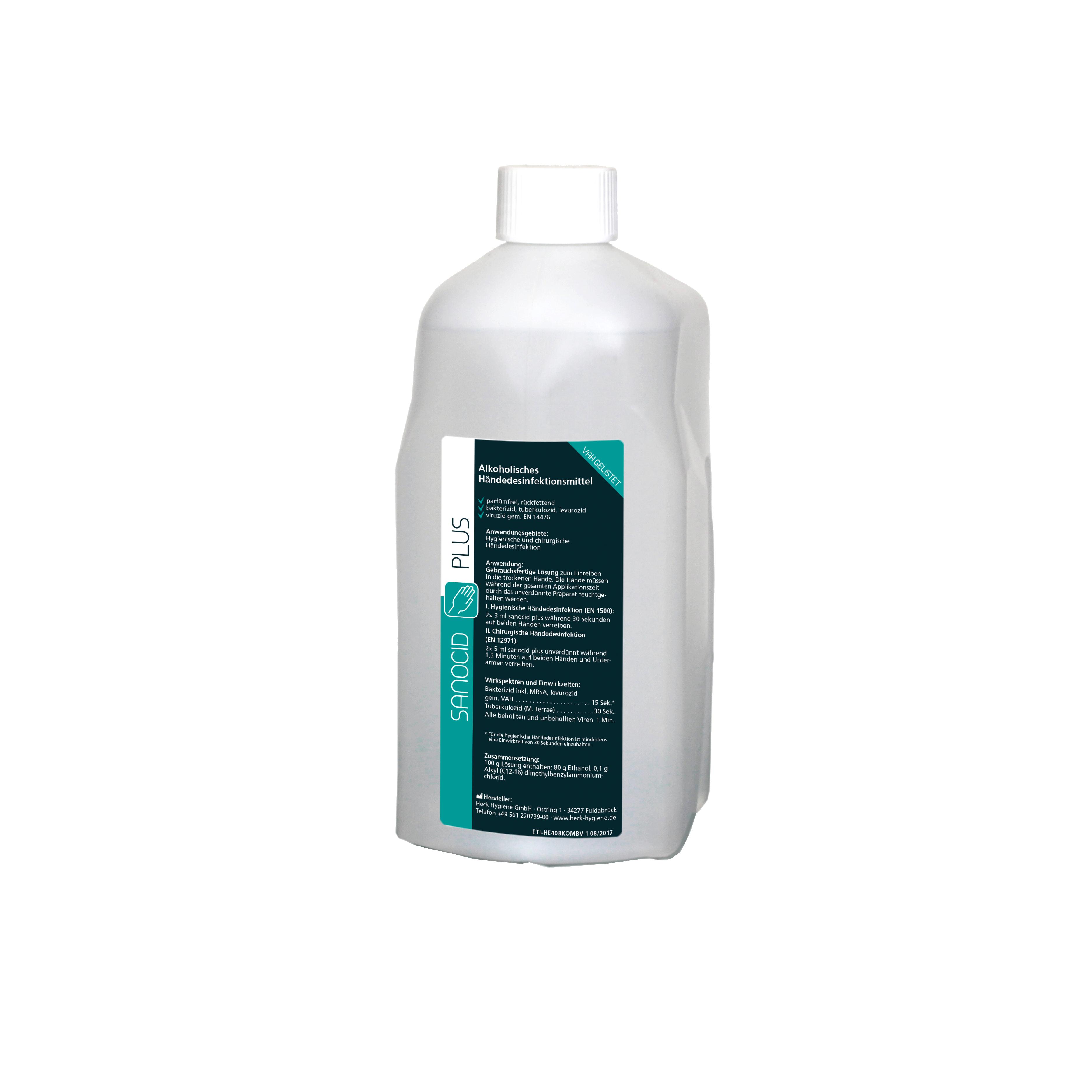 Sanocid Plus Händedesinfektion, viruzid, 1 Spenderflasche, 1 Liter
