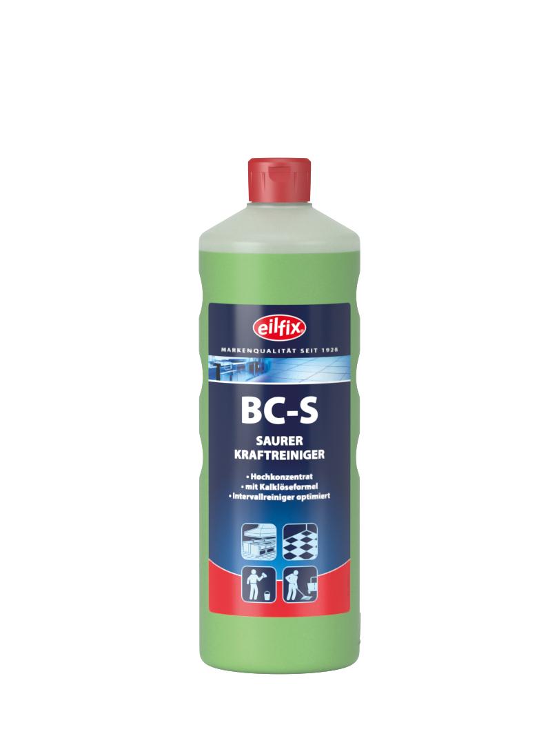 eilfix BC-S saurer Kraftreiniger (Entkalker), Hochkonzentrat, 1 Flasche, 1 Liter